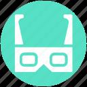 entertainment, gadget, glasses, movie glasses, multimedia, technology icon