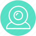 cam, camera, media, stream, video, web cam, web camer icon