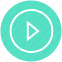 buttons, multimedia, play, play button, player, video icon