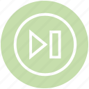 backwords, first, media button, media control, multimedia, previous track, round icon