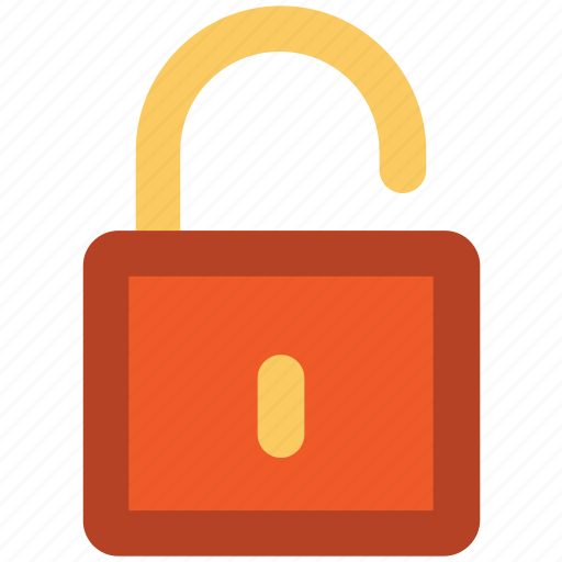 lock, open padlock, password, privacy, protection, security, unlock icon