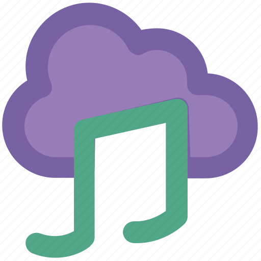 cloud music, music note, note, sound, sound note, volume note icon