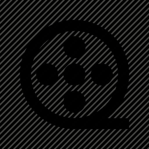 camera reel, film reel, film strip, image reel, movie reel icon