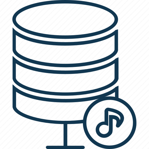 database, music database, music server, network server, server, server storage icon