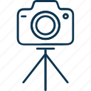 cam, camera, camera tripod, digital camera, photography, tripod icon