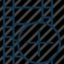 add reel, camera reel, film reel, image reel, plus sign, plus sign with reel icon