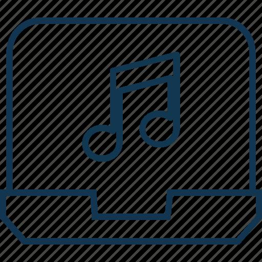 laptop, laptop pc, laptop sound, macbook, music online, notebook icon