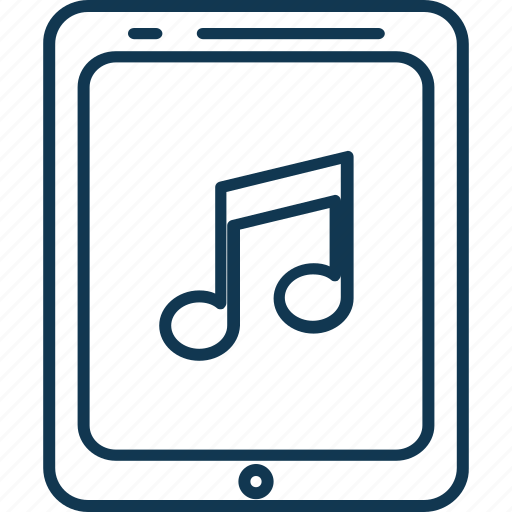 tab music, tablet, tablet music, tablet noise, tablet pc, tablet with notes icon