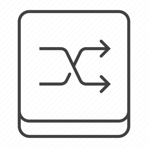 Arrow, button, media, multimedia, player, random, shuffle icon - Download on Iconfinder