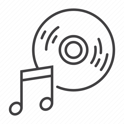 Audio, melody, music, note, record, sound, vinyl icon - Download on Iconfinder