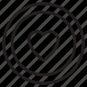 favorite, heart, like, media, player icon