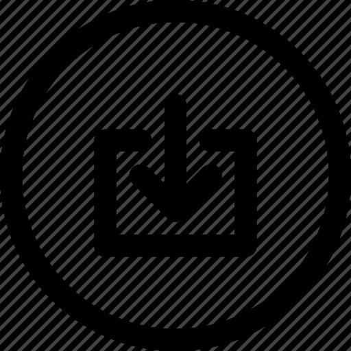app, control, download, guardar, multimedia, receive, save, ui icon