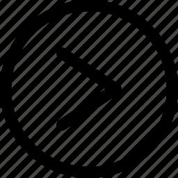 arrow, forward, multimedia, next, right, track, ui icon