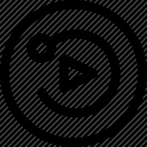 app, clip, multimedia, reload, replay, restart, ui icon
