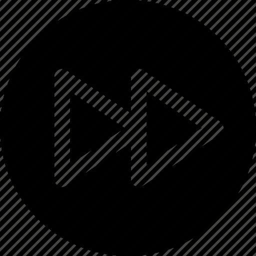 audio, clip, forward, multimedia, music, next, video icon