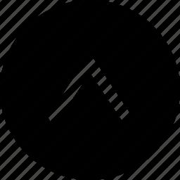arrow, control, navigation, previous, top, track, ui icon