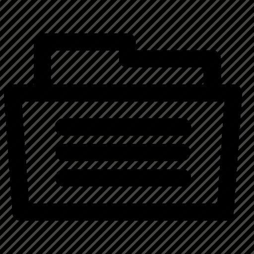 Folder, document, extension, file, format icon - Download on Iconfinder