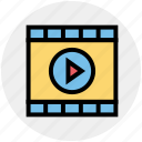 camera, cinema, film, film roll, movie film strip, multimedia, music icon