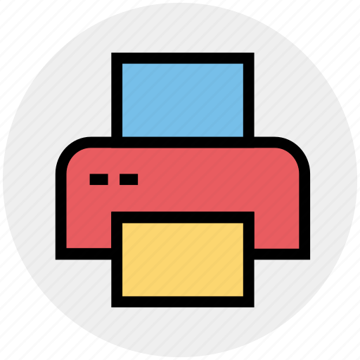 computer, device, electronic, multimedia, paper, printer, technology icon