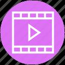 camera, cinema, film, film roll, movie film strip, multimedia, music icon