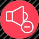 change, down, minus, multimedia, music, speaker, volume icon