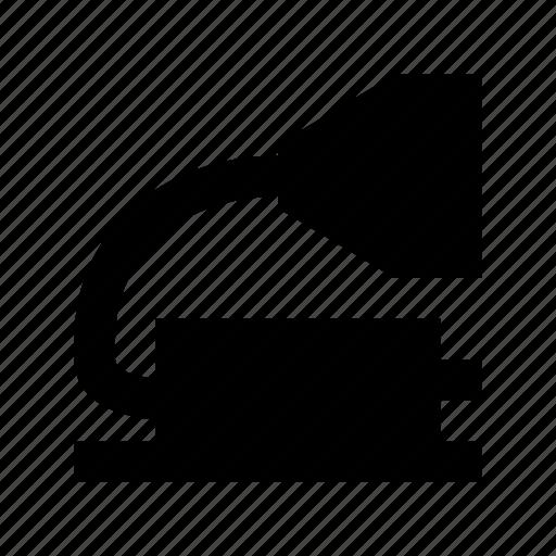 bullhorn, gramophone, loud hailer, megaphone, sound icon