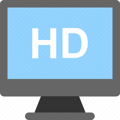 hd, hd screen, high definition, monitor, tv icon