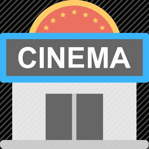 building, cinema, cinema hall, movie, theater icon