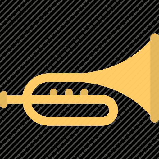 bugle, music, music instrument, trombone, trumpet icon
