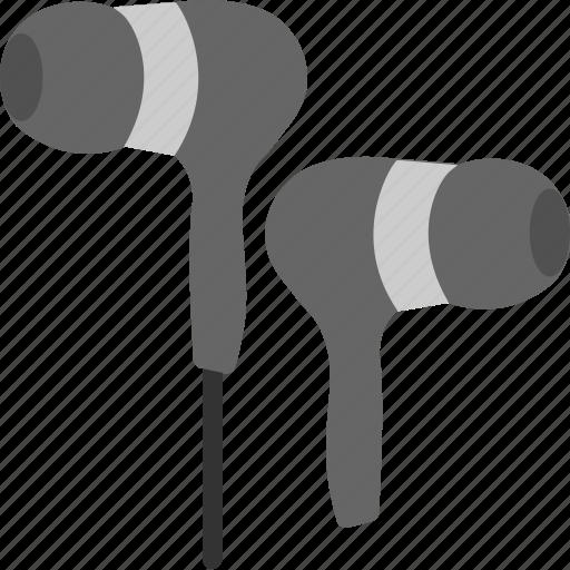 ear plugs, ear speakers, earbuds, earphones, hands free icon