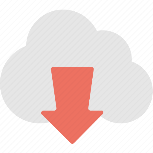 cloud download, computing, download, icloud, storage icon