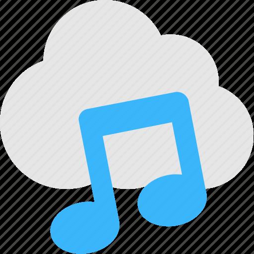 cloud computing, cloud music, media, music, songs icon