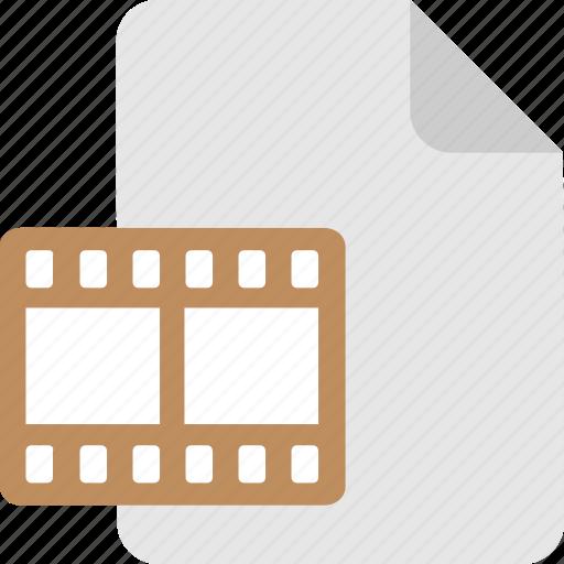 film, movie, mp4 file, strip, video clip icon