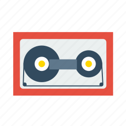 audio, cassette, multimedia, music, play, vintage icon