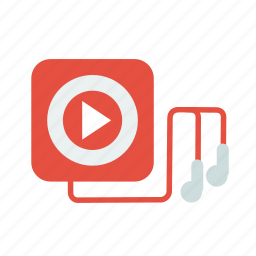 audio, headset, ipod, multimedia, music, playlist icon