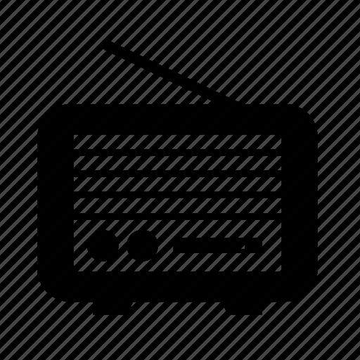 audio, multimedia, music, radio, sound, vintage icon