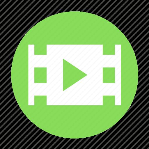 clip, film, movie, multimedia, play, video icon