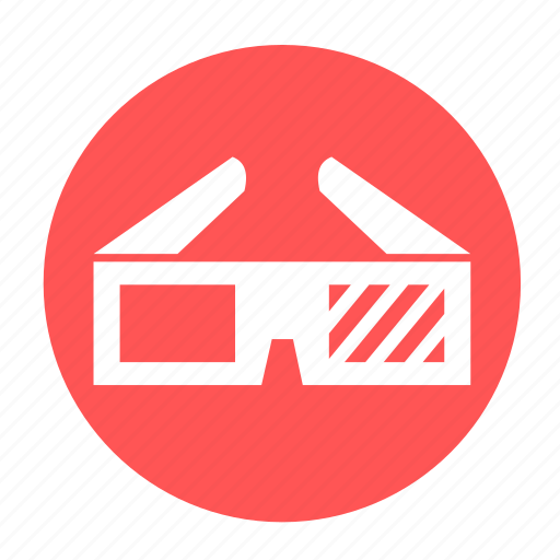 film, glasess, glass, movie, multimedia, watch icon
