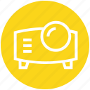 electronics, film projector, movie projector, multimedia, projection, projector icon