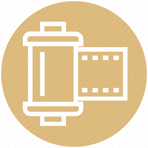 cinema, film, film cartridge, movie, multimedia, reel icon