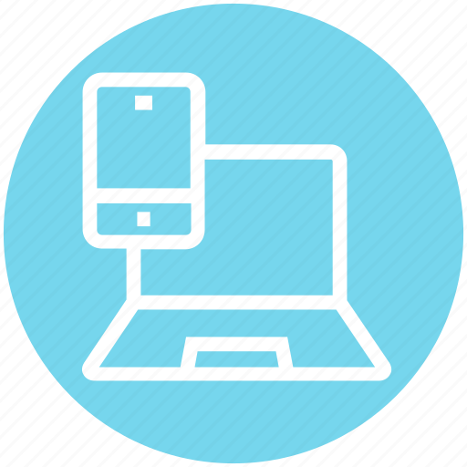 display, laptop, laptop and mobile, laptop screen, mobile, mobile screen, multimedia icon