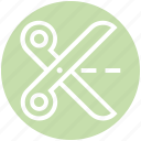 action, cut, cutting, edit, scissors, split, trim icon