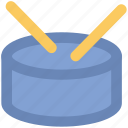 drum, drum and stick, instrument, multimedia, music, percussion icon