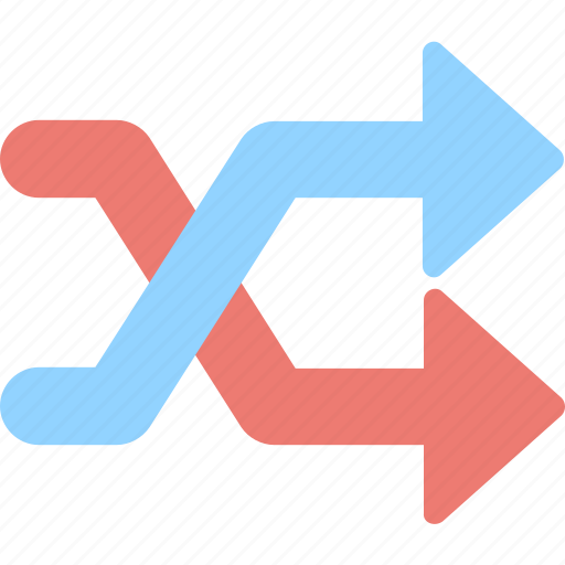 arrows, loop, multimedia option, shuffle icon