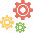 cogs, cogwheel, gear, preferences, settings icon