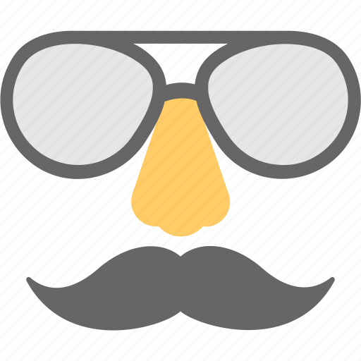 hipster, moustache, party, party props, sunglasses icon