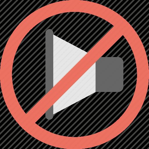 mute, silent, sound off, speaker, volume icon