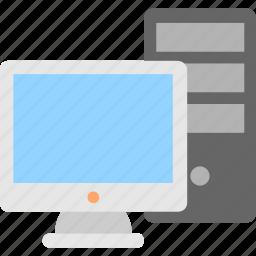 computer, cpu, desktop, monitor, pc icon