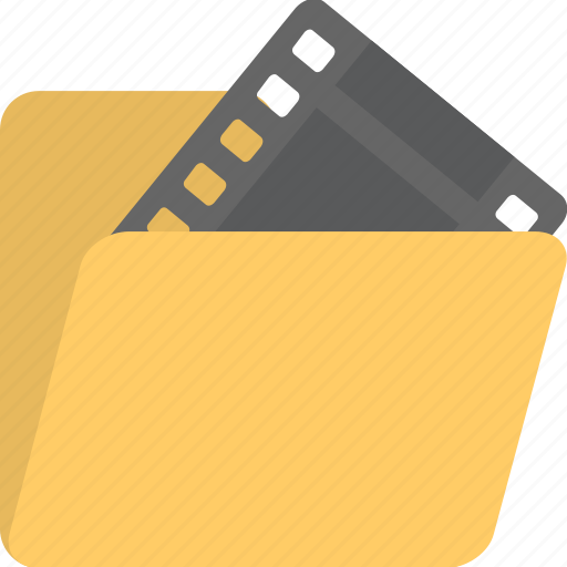film, movie, movie folder, multimedia, video icon
