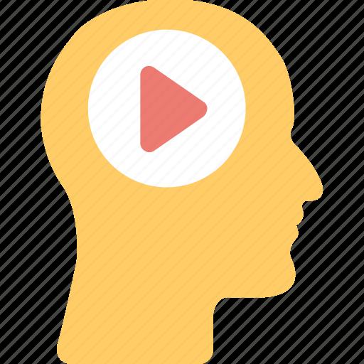 film, head, human, movie, video icon